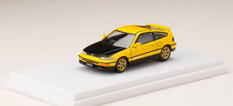 1/64 Hobby Japan HJ641005CRY Honda CRX-EF8 Customized Carbon Bonnet Version Yellow