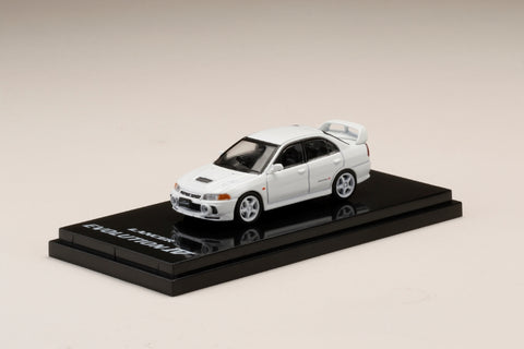 1/64 Hobby Japan HJ641011CW Mitsubishi Lancer GSR Evolution IV (CN9A) Customized Version Scortia White