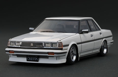 1/43 Ignition Model IG0681 Toyota Cresta (GX71) Super Lucent White (Hayashi-Wheel)