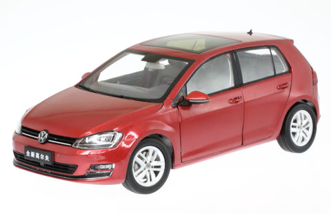 "1/18 VW VOLKSWAGEN ""THE NEW GOLF"" in Red Colour"