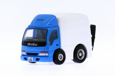 Q-type Isuzu NPR Blue/White lorry