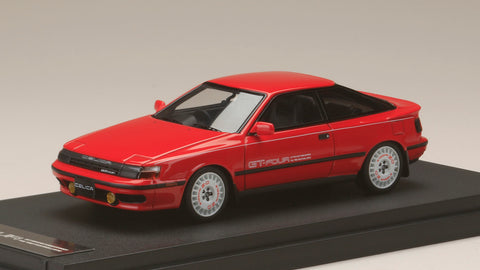 1/43 MARK 43 - Toyota CELICA GT-Four (ST165) 1986 Sports Wheel Super Red II (PM4337ASR)