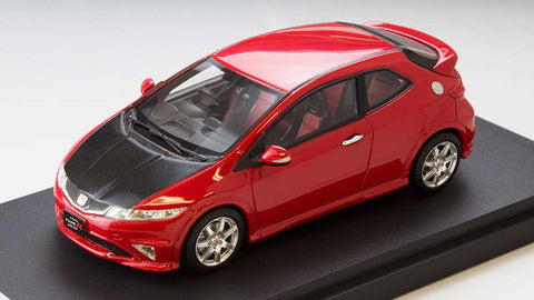 1/43 MARK 43 - Honda Civic type R euro (FN2) carbon bonnet Milan Red (PM4347CR)