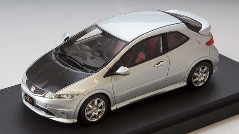 1/43 MARK 43 - Honda Civic type R euro (FN2)  carbon bonnet Alabaster - silver metallic (PM4347CS)