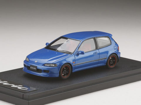 1/43 MARK 43 - Honda Civic (EG6) Customized Version with 無限 RNR Wheel Metallic Blue (PM4365CMBL)