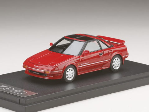 1/43 MARK 43 - Toyota MR 2 G-Limited Super Charger T Bar Roof (AW11) Super Red Ⅱ (PM4377R)