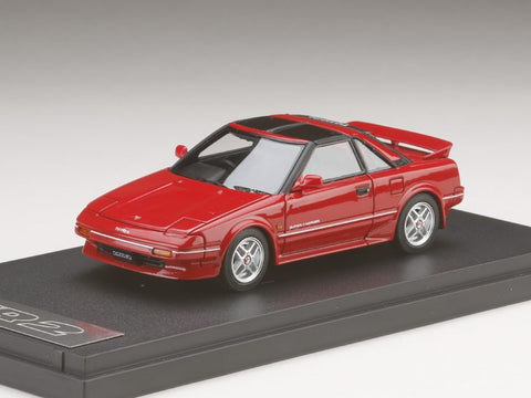 1/43 MARK 43 - Toyota MR 2 G-Limited Super Charger T Bar Roof (AW11) TOM'S NEW SPORT Super Red Ⅱ (PM4377SR)