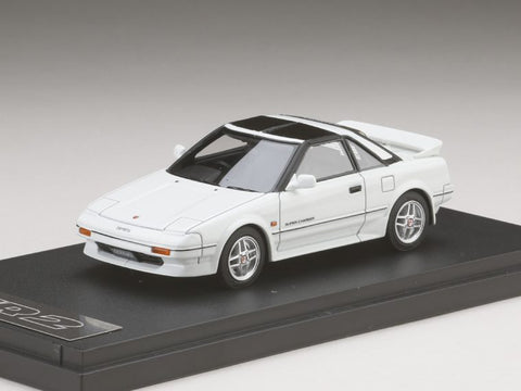 1/43 MARK 43 - Toyota MR 2 G-Limited Super Charger T Bar Roof (AW11) TOM'S NEW SPORT Super White Ⅱ (PM4377SW)