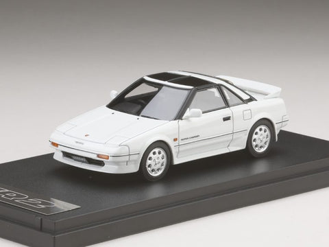 1/43 MARK 43 - Toyota MR 2 G-Limited Super Charger T Bar Roof (AW11) Super White Ⅱ (PM4377W)