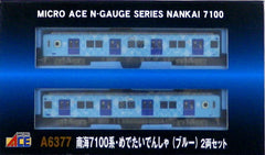N Gauge Micro Ace A6377 Nankai 7100 Series Medetai Densha (Blue) 2 Cars Set