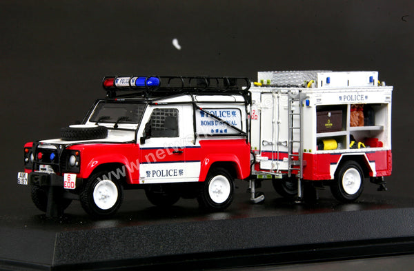 Diecast Model Cars >> 1/35 LAND ROVER HONG KONG POLICE BOMB DISPOSAL WITH TOW – Network Shuttle Diecast Model