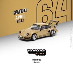 (Pre-Order) 1/64 Tarmac T64-015-GA RWB 930 Garuda Street Version with Silver Rims