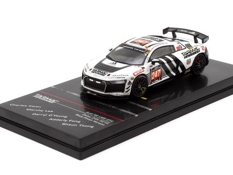 1/64 TARMAC WORKS - Audi R8 LMS GT4 Dubai 24H 2018 Race Finish Version