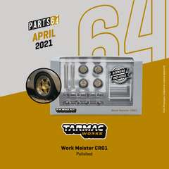 (Pre-Order) 1/64 Tarmac T64W-004-GP Work Meister CR01 Gold / Polished