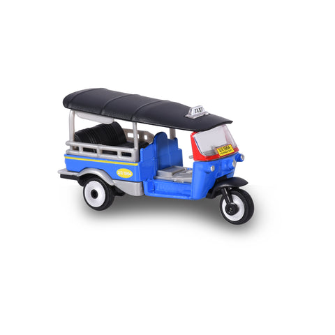 Majorette 1:60 Thailand Tuk Tuk - Blue with Black roof