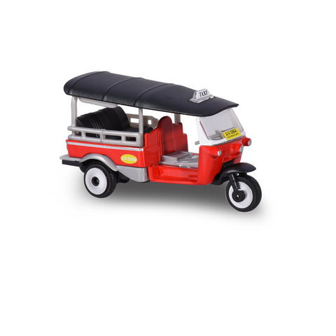 Majorette 1:60 Thailand Tuk Tuk - Red with Black roof