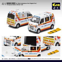 (Pre-Order) 1/64 Era Car 41 Suzuki Every HK Mini Ambulance Van (Orginal Ver) (1st Special Edition)