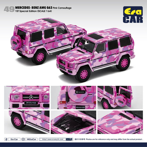 1/64 Era Car 49 Mercedes-Benz G63 Pink Camouflage (1st Special Edition)