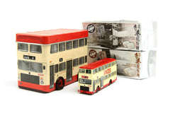 Tiny City die-cast - No.55 Kowloon Motor Bus KMB Leyland Victory MK2 in tin with candy