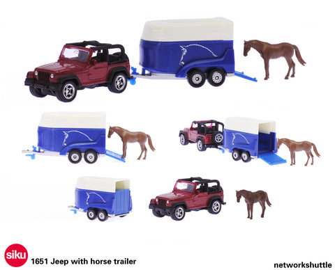 Siku 1651 Jeep with Horse Trailer