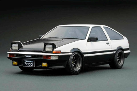1/18 ignition model - IG0541 Toyota AE86 Sprinter Trueno 3Dr GT Apex (Black Bonnet)