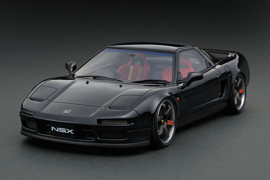 1 18 ignition model ig0405 honda nsx na1 1990 black network shuttle diecast model. Black Bedroom Furniture Sets. Home Design Ideas
