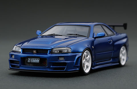1/43 ignition model - IG0791 Nismo R34 GT-R Z-tune Bayside Blue