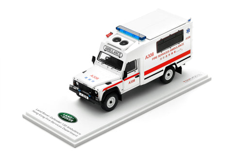 1/43 Hong Kong Fire Services Dept (HKFSD) Land Rover Defender 130 Ambulance - A308