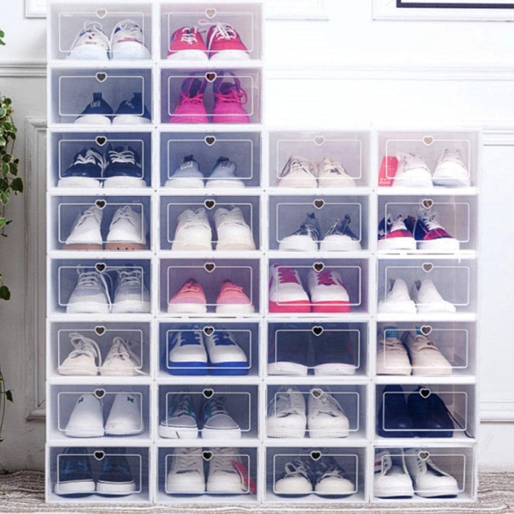 Stackable Shoe Box Storage Organizer 6PCS/Set