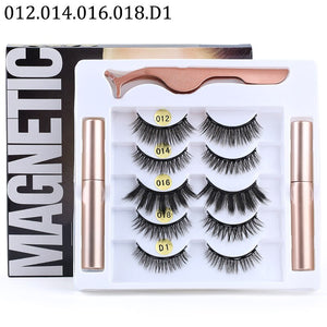 Magnetic Eyelashes and Magnetic Liquid Eyeliner Kit