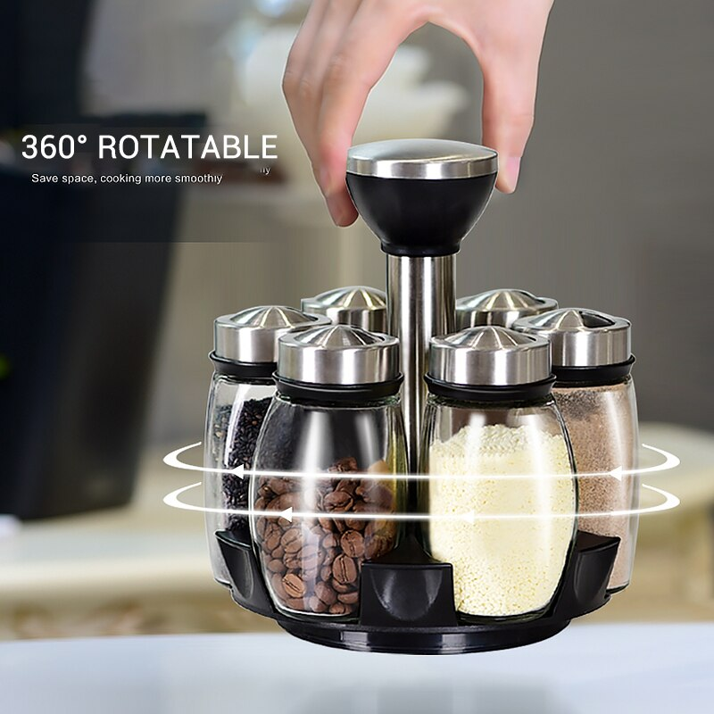 Rotating Condiment Storage Shakers