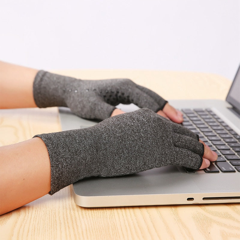 Arthritis & Carpal Tunnel Syndrome Compression Open Finger Gloves