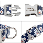 Customizable Pet Collar with Printed Name and Number