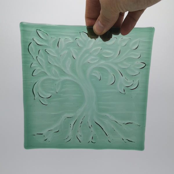 Tree of Life Textured Glass
