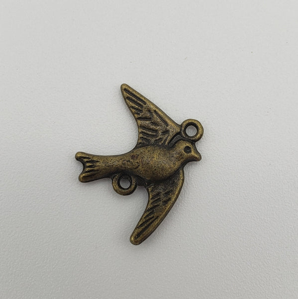 Antique Bronze Bird Link 4/pack