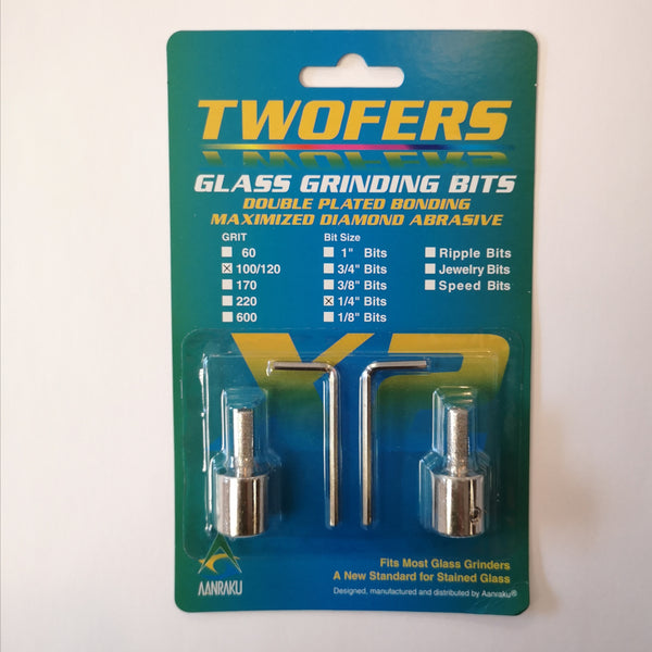 "TWOFER Diamond Grinder Bit 1/4"" 100/120 Grit"