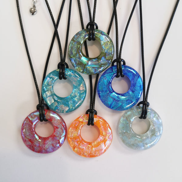 """Constellations"" Hoop Dichroic Necklace"