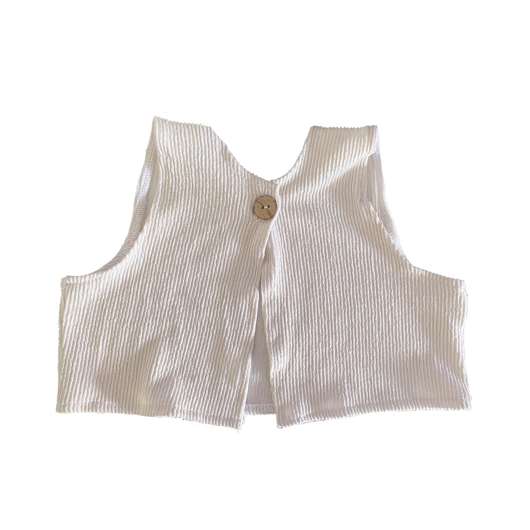 Ribbed Oat Crop Top