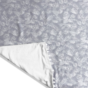 Tropical Grey Beach Towel