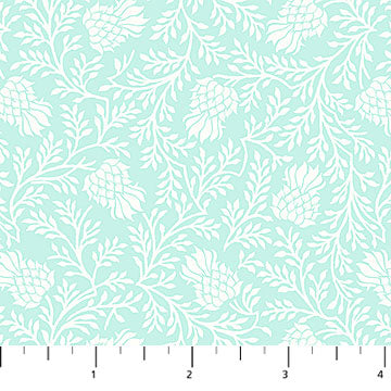 Stag and Thistle - Light Turquoise