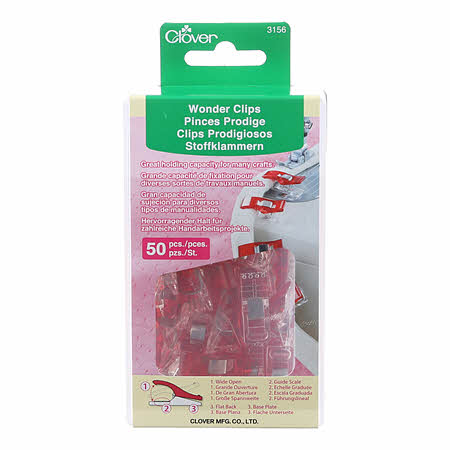 Clover Wonder Clips Red 50pcs Box