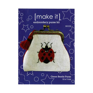 Embroidery Purse Kit - Ladybug Purse