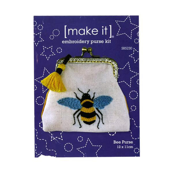 Embroidery Purse Kit - Bee Purse