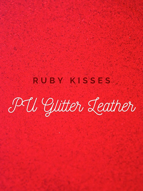 Ruby Kisses Glitter Vinyl