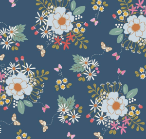 Wild Bouquet Main Navy