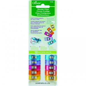 Clover Wonder Clips Coloured 10pcs
