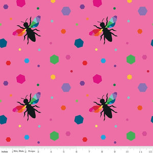 PRE ORDER 'Create' by Kristy Lea - Hexie Bees Pink