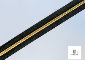 Light Gold with Black Zipper Tape #5