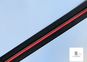Ruby Red with Black Zipper Tape #5