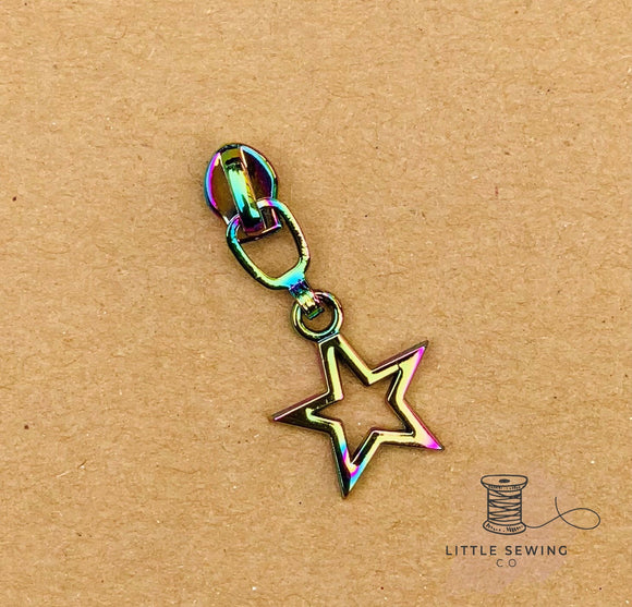 Mini Star #3 Zipper Pull